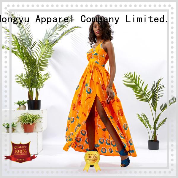 HongYu Apparel modern african print dresses off mall
