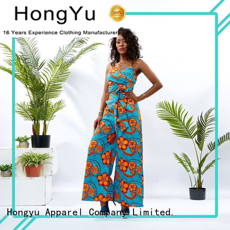 HongYu Apparel crop two piece long dresses print africa