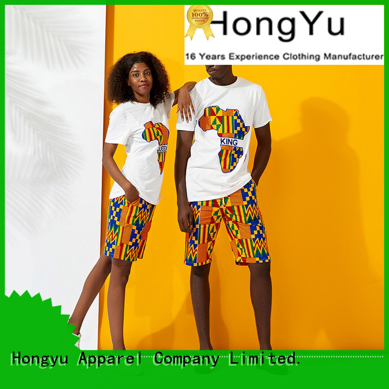 HongYu Apparel matching outfits for black couples clothes ladies