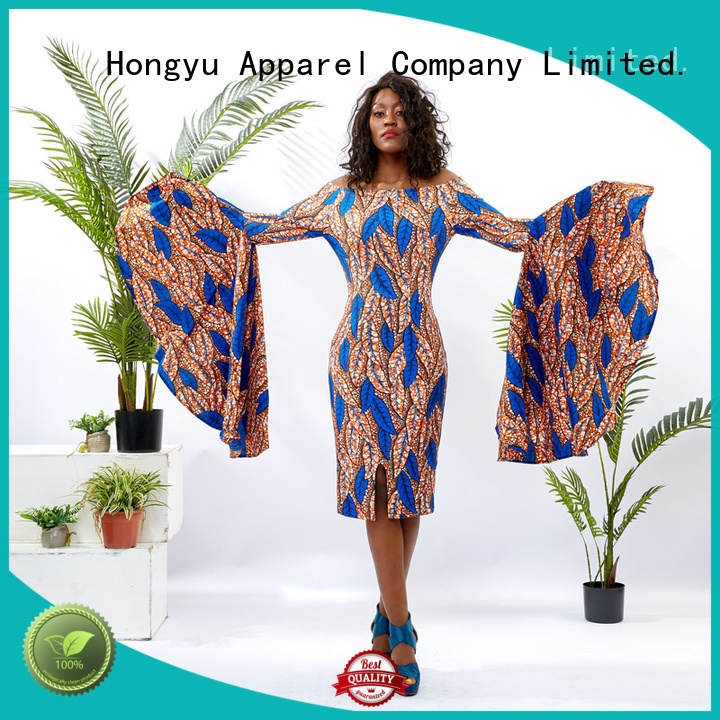 HongYu Apparel ankara fashion dress for womens floor reception