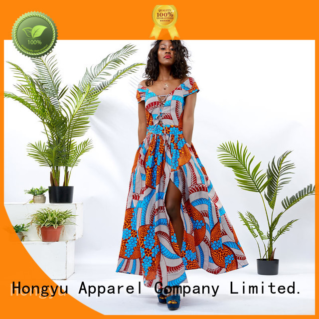 HongYu Apparel wrap long wrap dress off reception
