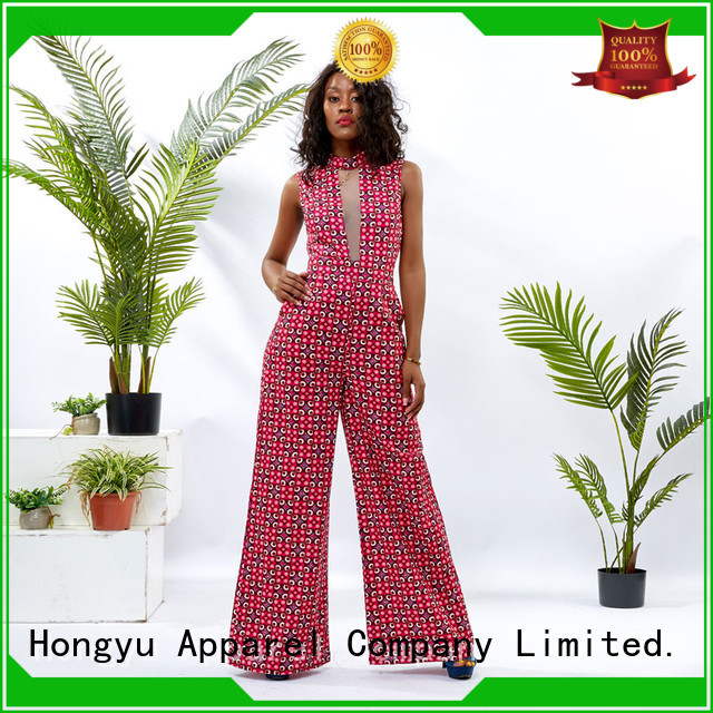 HongYu Apparel rayon holiday jumpsuits service africa