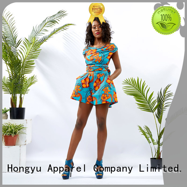HongYu Apparel rayon short jumpsuit design africa