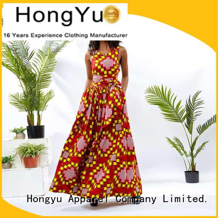 HongYu Apparel long african dresses for girls shoulder reception