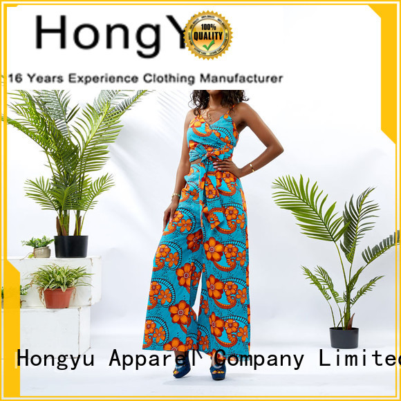 HongYu Apparel crop two piece long dresses design africa