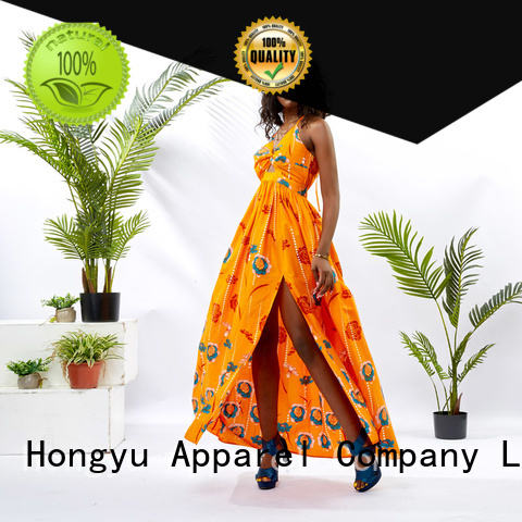 HongYu Apparel oem fashion dress for womens floor africa