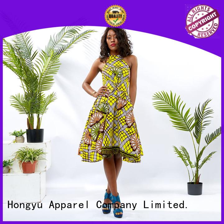 HongYu Apparel african print dresses styles shoulder mall