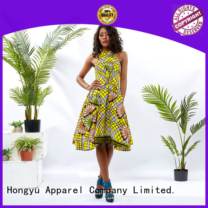 HongYu Apparel african print dresses styles shoulder mall