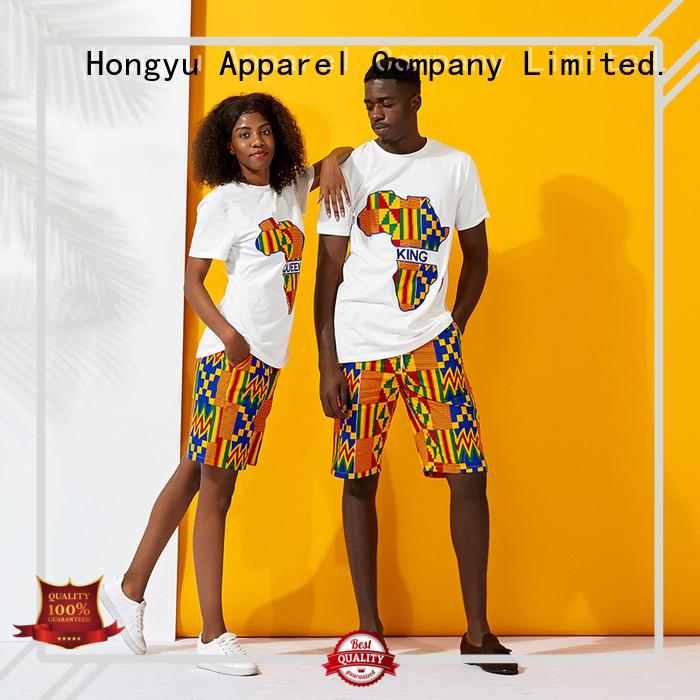 HongYu Apparel quality matching couple hoodies design men