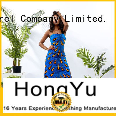 HongYu Apparel oem floral bodycon dress off africa