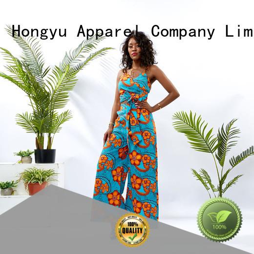 HongYu Apparel women two piece set print africa