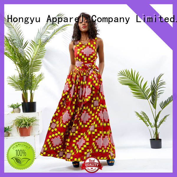HongYu Apparel wax elegant dresses for women off africa