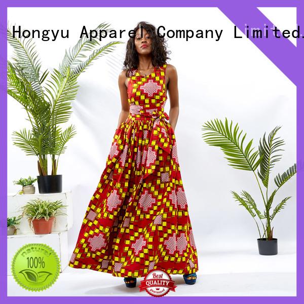 HongYu Apparel wax elegant dresses for women off africa