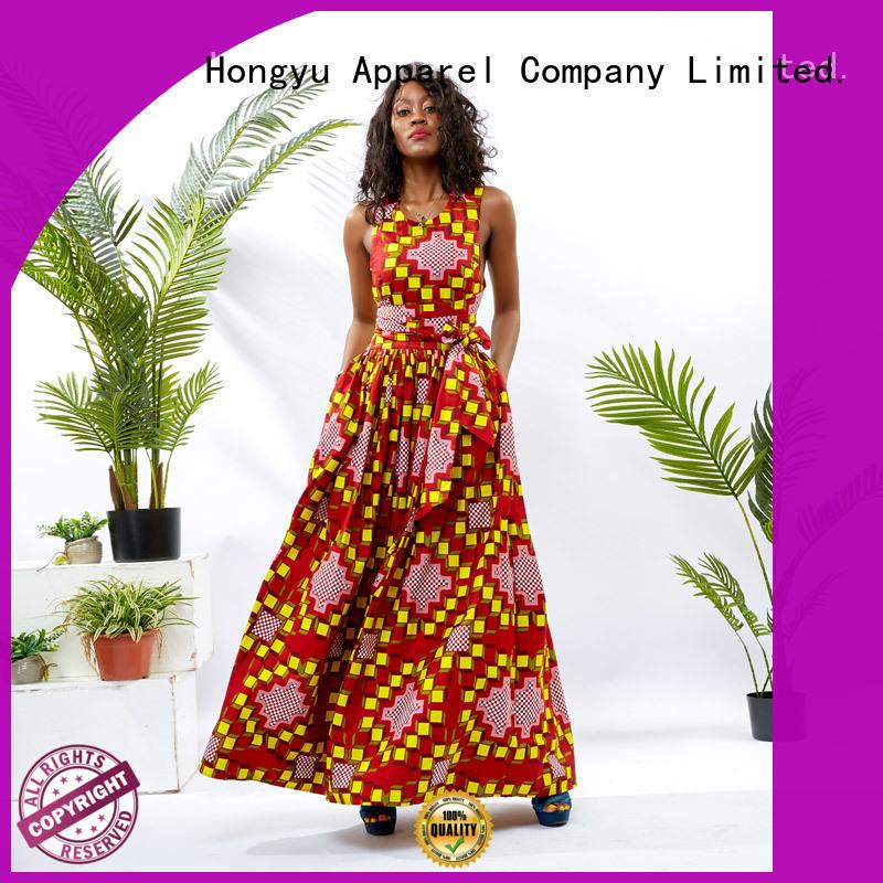 HongYu Apparel oem classy dresses floor africa