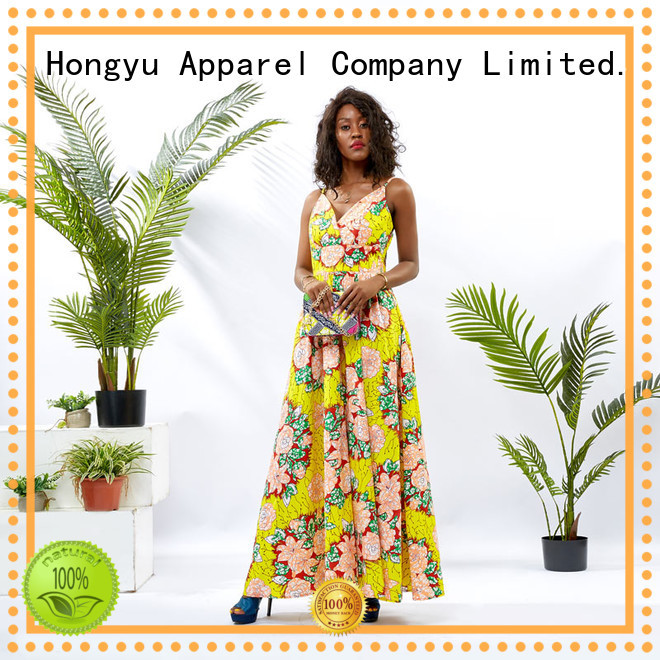 HongYu Apparel african print dresses styles floor mall