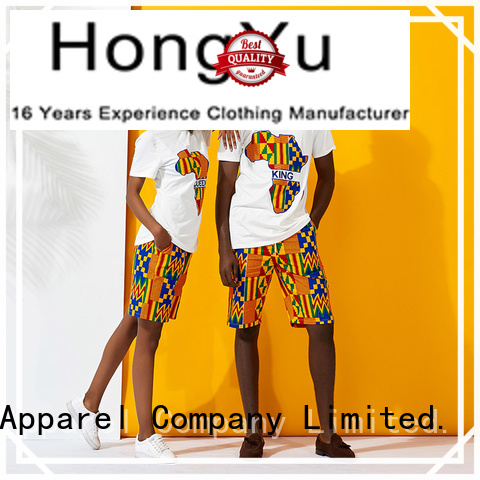 HongYu Apparel quality matching couple shirts clothes couples