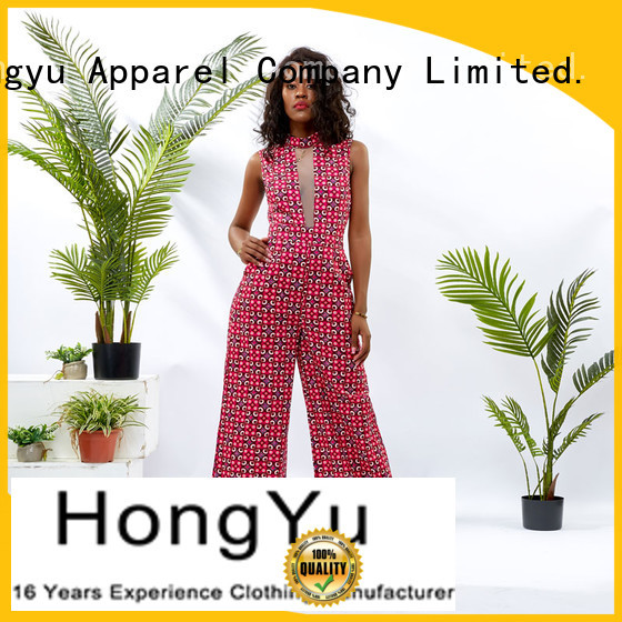 HongYu Apparel print elegant jumpsuits for women travel