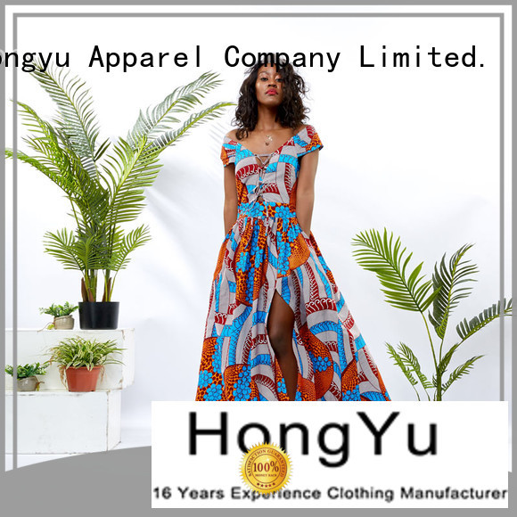 HongYu Apparel slip wholesale dresses off reception