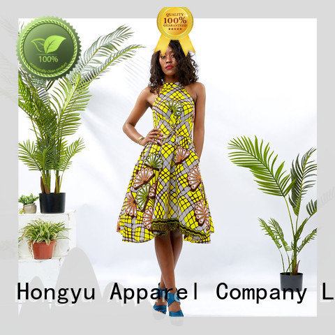 HongYu Apparel long wrap dress floor africa