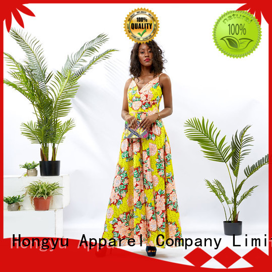 HongYu Apparel wax womens wrap dress women mall