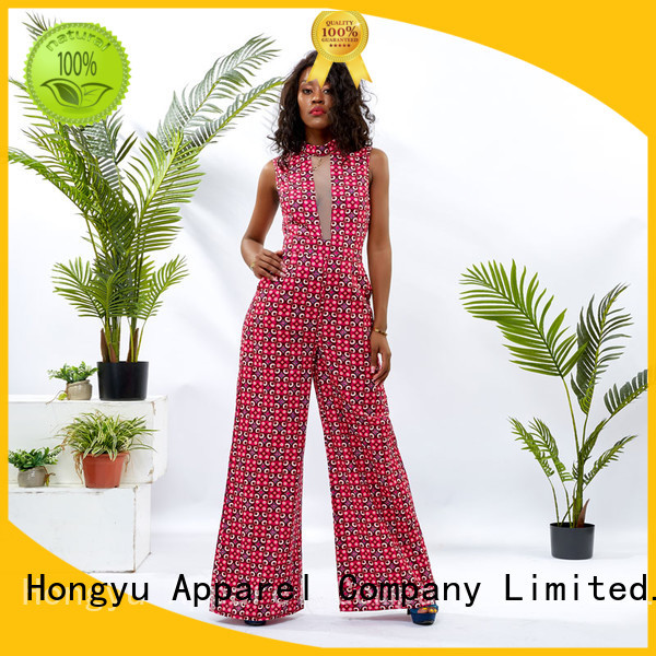 HongYu Apparel tight jumpsuit design africa