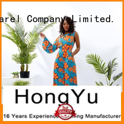 HongYu Apparel soft womens floral jumpsuit design africa