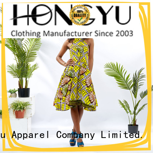 african print dress designs shoulder africa HongYu Apparel