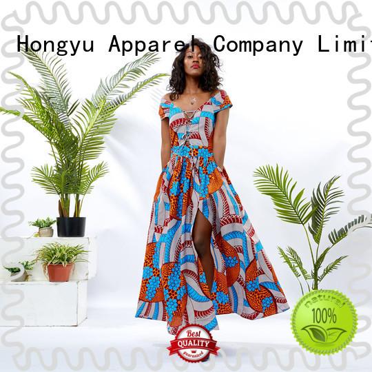 HongYu Apparel stylish dress for women shoulder mall