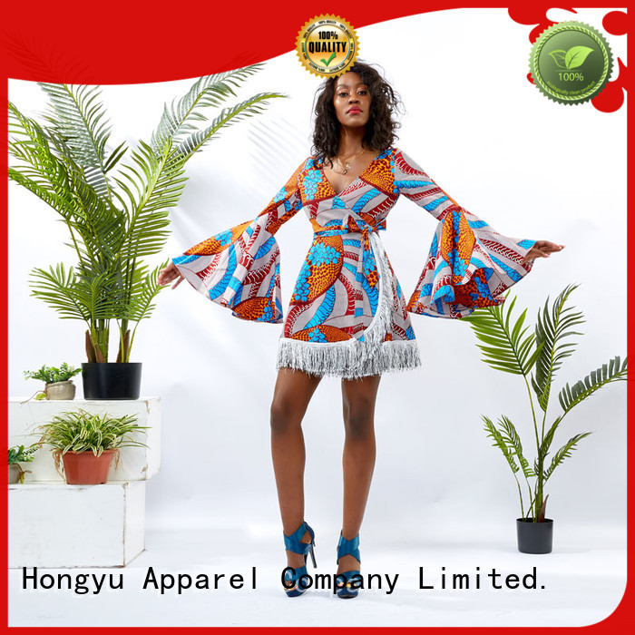 HongYu Apparel ankara summer wrap dress women mall