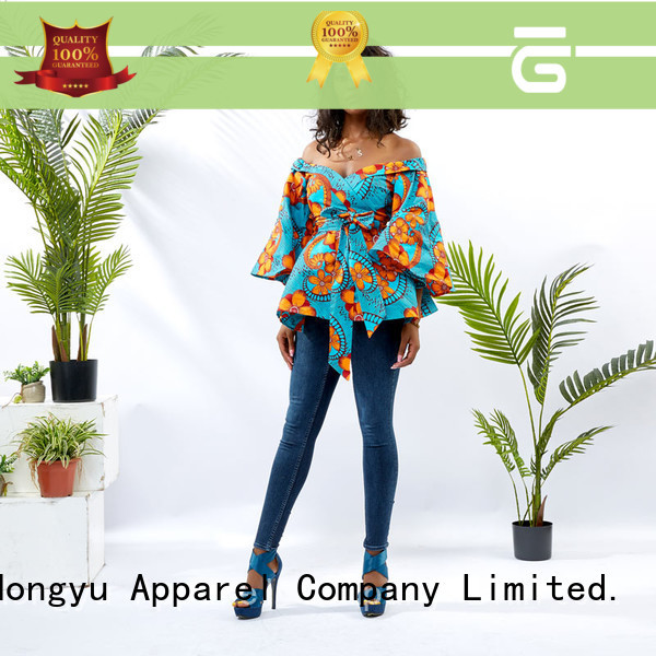 HongYu Apparel casual formal tops for women shoulder africa