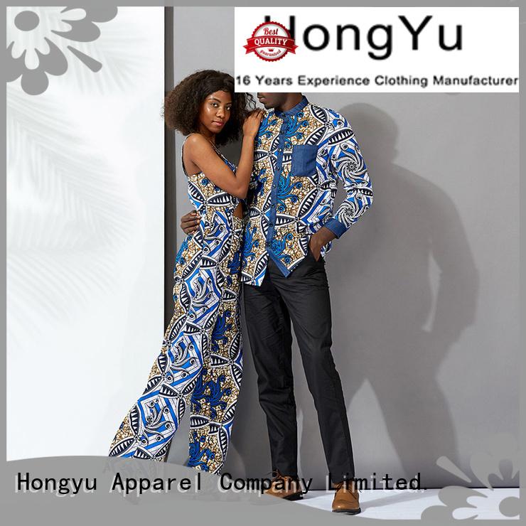 HongYu Apparel casual matching couple hoodies wear men
