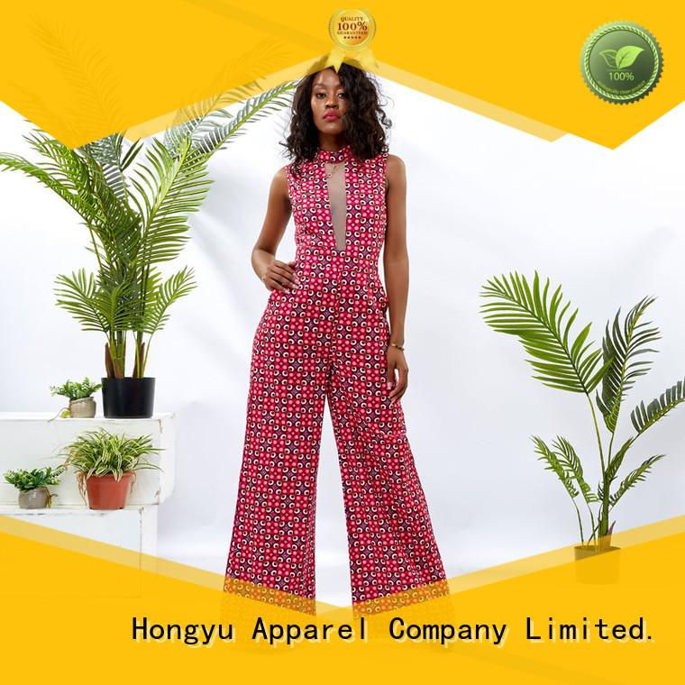 HongYu Apparel ankara summer jumpsuits for women service women