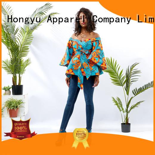 HongYu Apparel top ladies top design ladies africa